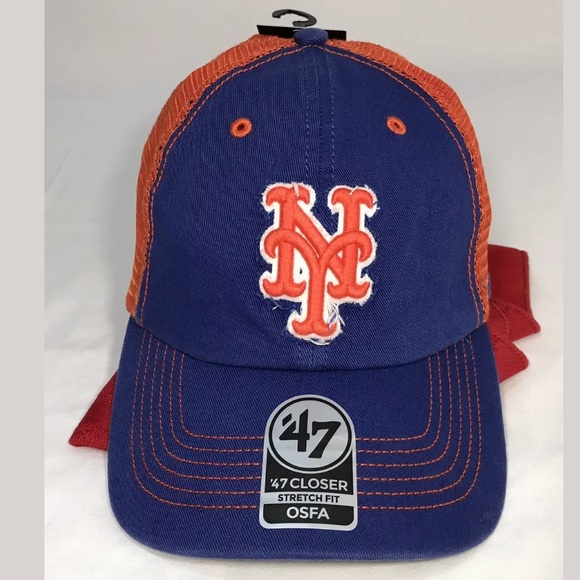 cba48896b76e0  47 Brand New York NY Mets Hat CLOSER STRETCH FIT